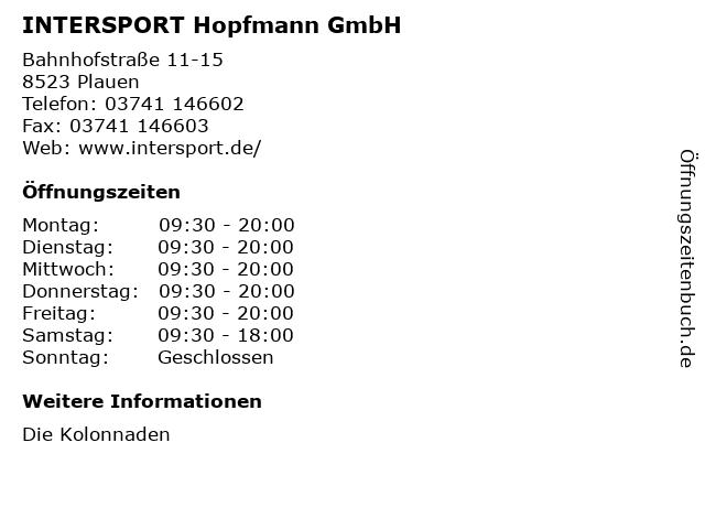 INTERSPORT Hopfmann GmbH in Plauen: Adresse und Öffnungszeiten