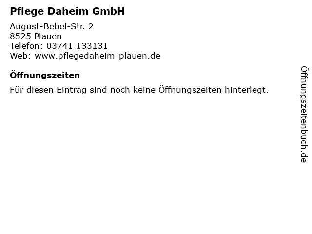 Pflege Daheim GmbH in Plauen: Adresse und Öffnungszeiten