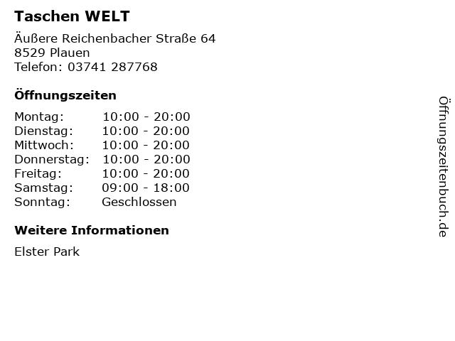 Taschen WELT in Plauen: Adresse und Öffnungszeiten
