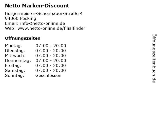 Netto Marken-Discount in Pocking: Adresse und Öffnungszeiten