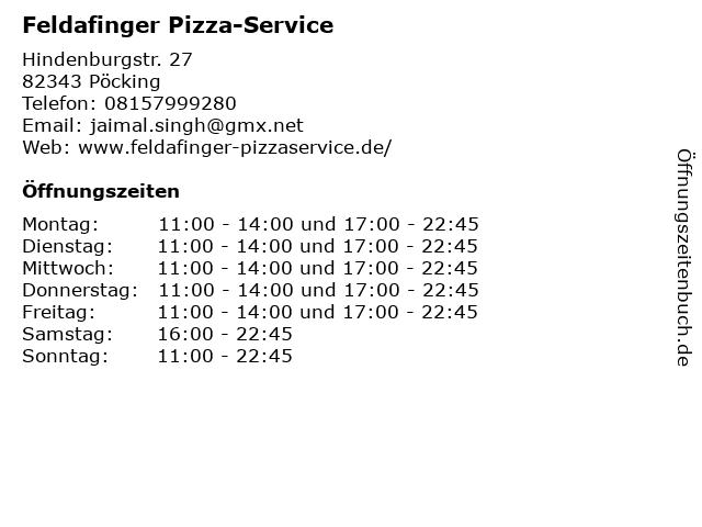 Feldafinger Pizza-Service in Pöcking: Adresse und Öffnungszeiten