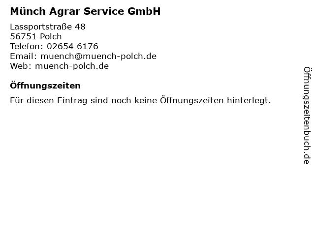 Münch Agrar Service GmbH in Polch: Adresse und Öffnungszeiten
