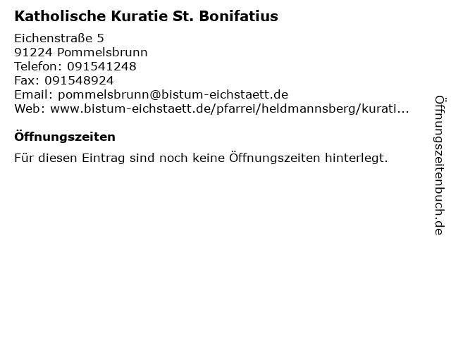 Katholische Kuratie St. Bonifatius in Pommelsbrunn: Adresse und Öffnungszeiten