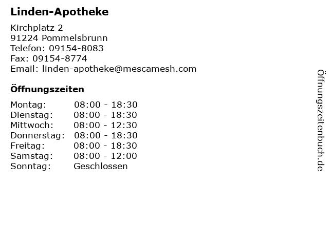 Linden-Apotheke in Pommelsbrunn: Adresse und Öffnungszeiten
