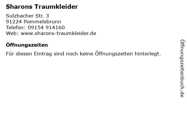 Sharons Traumkleider in Pommelsbrunn: Adresse und Öffnungszeiten