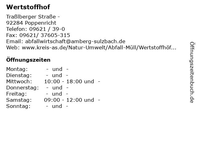 Wertstoffhof Burglengenfeld