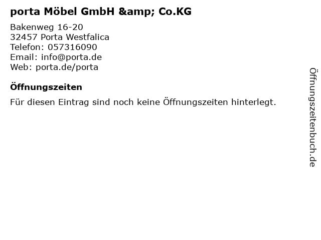 ᐅ öffnungszeiten Porta Möbel Gmbh Cokg Bakenweg 16 20 In