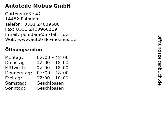 Autoteile Möbus GmbH in Potsdam: Adresse und Öffnungszeiten