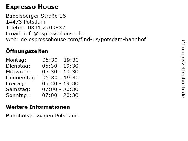 Balzac Coffee Company GmbH & Co. KG in Potsdam: Adresse und Öffnungszeiten