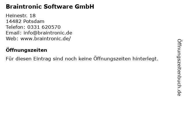 Braintronic Software GmbH in Potsdam: Adresse und Öffnungszeiten