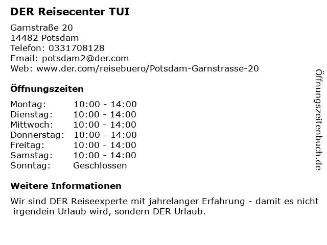 DER Reisecenter TUI in Potsdam: Adresse und Öffnungszeiten
