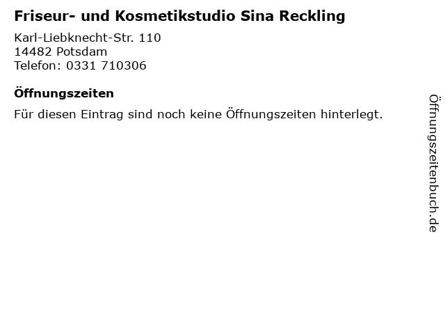Friseur- und Kosmetikstudio Sina Reckling in Potsdam: Adresse und Öffnungszeiten
