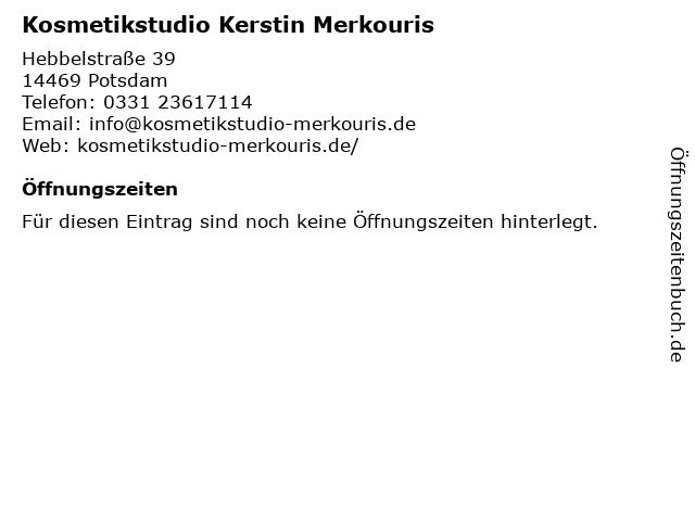 Kosmetikstudio Kerstin Merkouris in Potsdam: Adresse und Öffnungszeiten