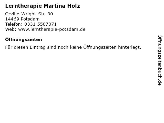 Lerntherapie Martina Holz in Potsdam: Adresse und Öffnungszeiten