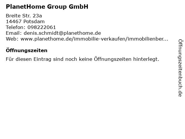 PlanetHome Group GmbH in Potsdam: Adresse und Öffnungszeiten