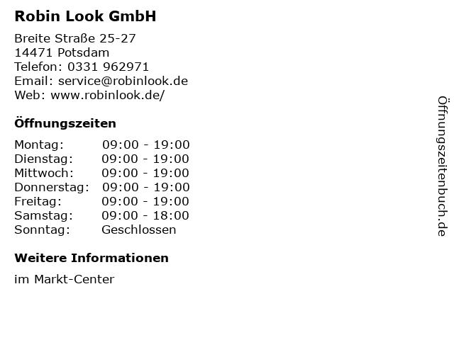 Robin Look GmbH in Potsdam: Adresse und Öffnungszeiten