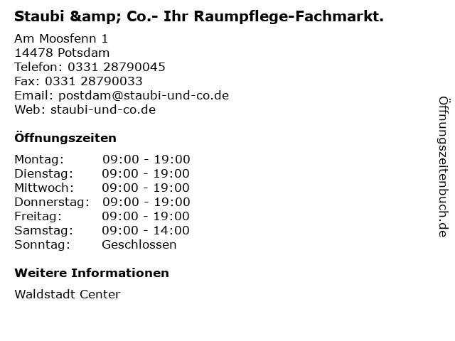 Staubi & Co.- Ihr Raumpflege-Fachmarkt. in Potsdam: Adresse und Öffnungszeiten