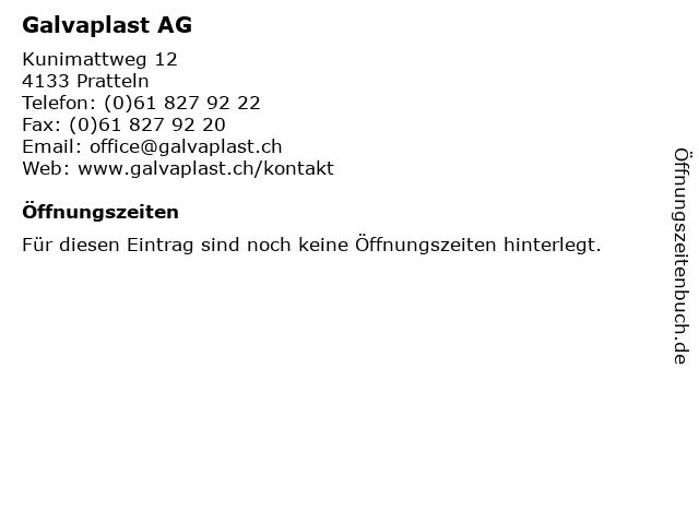 Galvaplast AG in Pratteln: Adresse und Öffnungszeiten