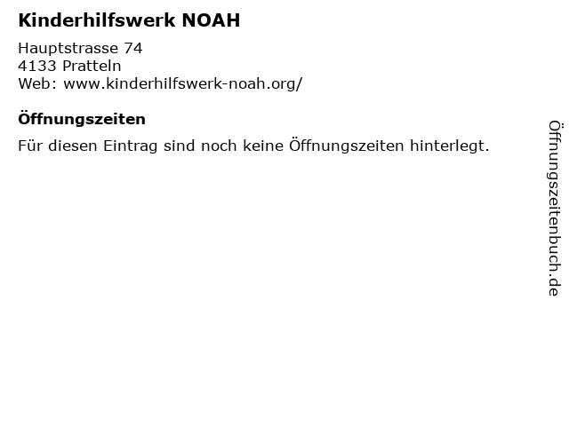 Kinderhilfswerk NOAH in Pratteln: Adresse und Öffnungszeiten