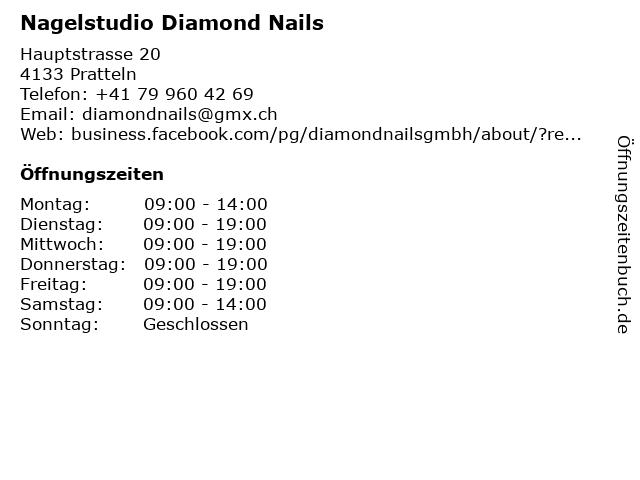 Nagelstudio Diamond Nails in Pratteln: Adresse und Öffnungszeiten
