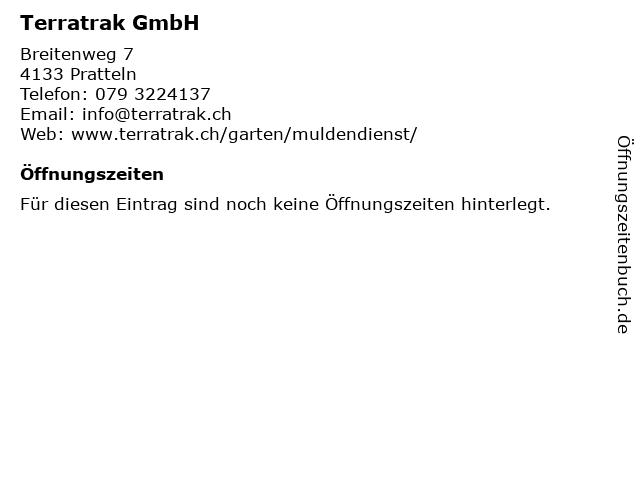 Terratrak GmbH in Pratteln: Adresse und Öffnungszeiten
