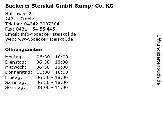 Bäckerei Steiskal GmbH & Co. KG in Preetz: Adresse und Öffnungszeiten