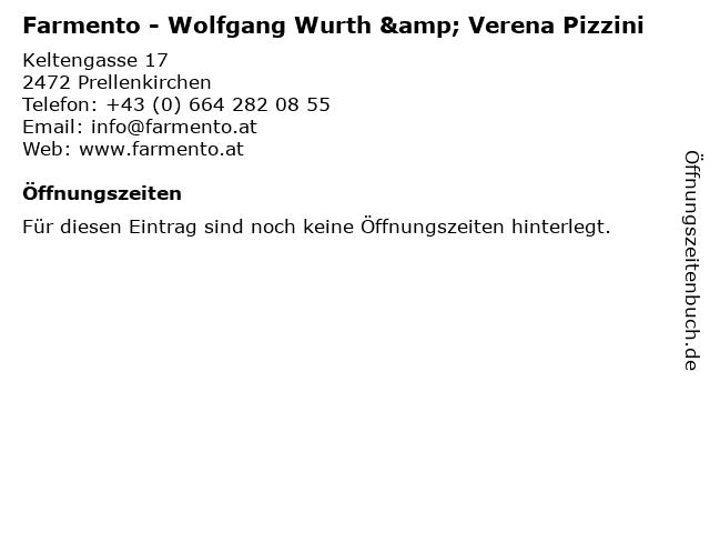 Farmento - Wolfgang Wurth & Verena Pizzini in Prellenkirchen: Adresse und Öffnungszeiten