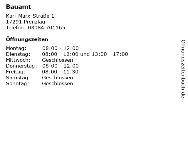 Bauamt in Prenzlau: Adresse und Öffnungszeiten
