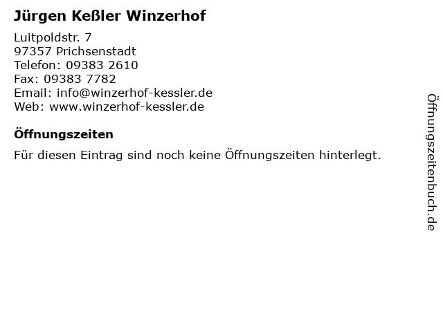 Jürgen Keßler Winzerhof in Prichsenstadt: Adresse und Öffnungszeiten