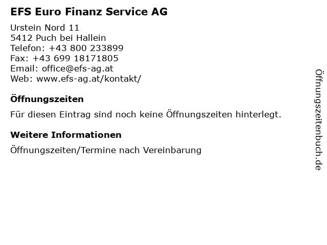 EFS Euro Finanz Service AG in Puch bei Hallein: Adresse und Öffnungszeiten