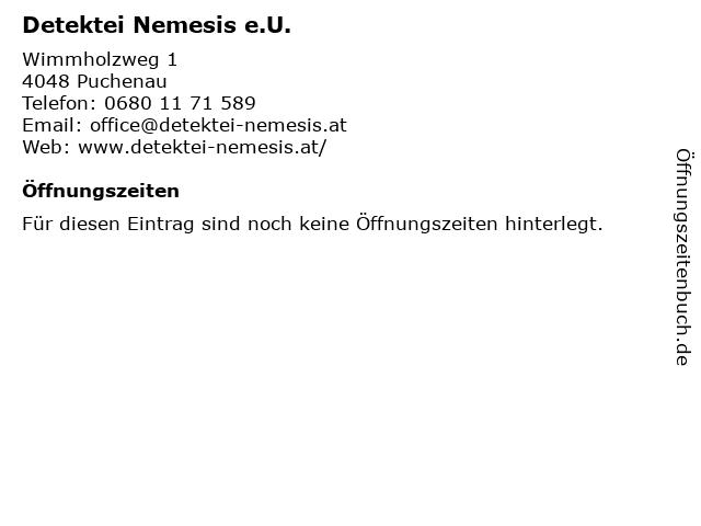 Detektei Nemesis e.U. in Puchenau: Adresse und Öffnungszeiten