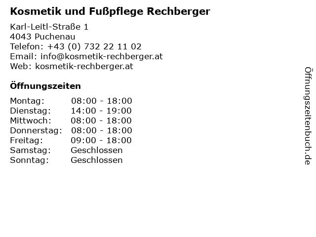 Kosmetik und Fußpflege Rechberger in Puchenau: Adresse und Öffnungszeiten