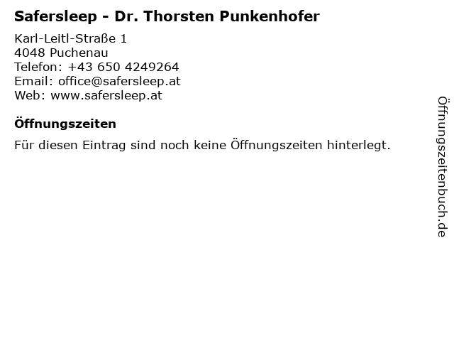 Safersleep - Dr. Thorsten Punkenhofer in Puchenau: Adresse und Öffnungszeiten