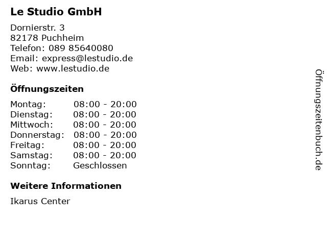 Le Studio GmbH in Puchheim: Adresse und Öffnungszeiten