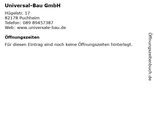 Universal-Bau GmbH in Puchheim: Adresse und Öffnungszeiten