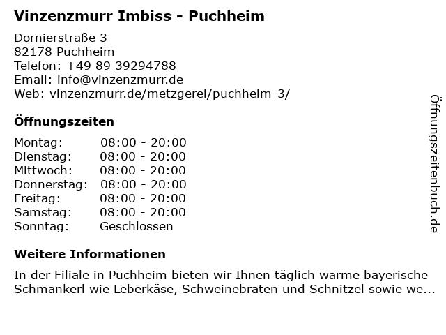 vinzenzmurr Vertriebs GmbH in Puchheim: Adresse und Öffnungszeiten