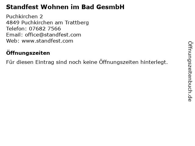 Standfest Wohnen im Bad GesmbH in Puchkirchen am Trattberg: Adresse und Öffnungszeiten