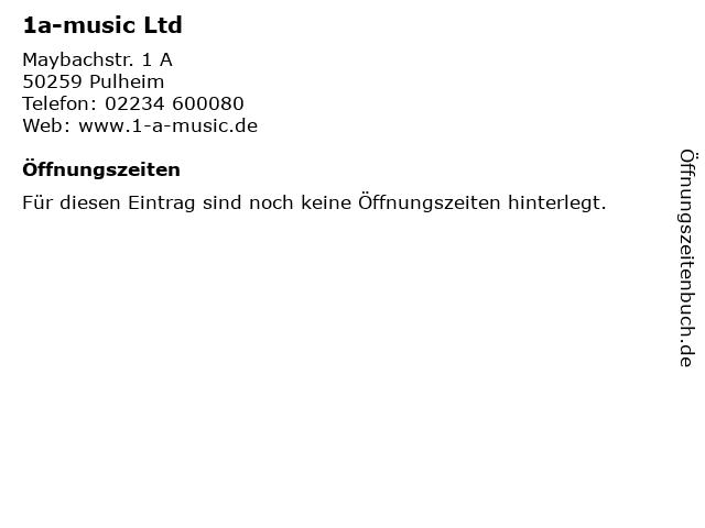 1a-music Ltd in Pulheim: Adresse und Öffnungszeiten