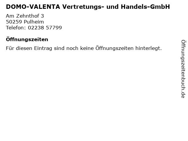 DOMO-VALENTA Vertretungs- und Handels-GmbH in Pulheim: Adresse und Öffnungszeiten