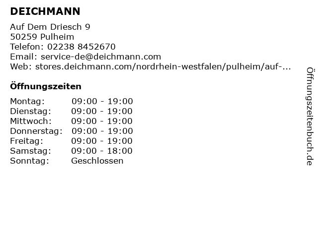 Deichmann Schuhe in Pulheim: Adresse und Öffnungszeiten