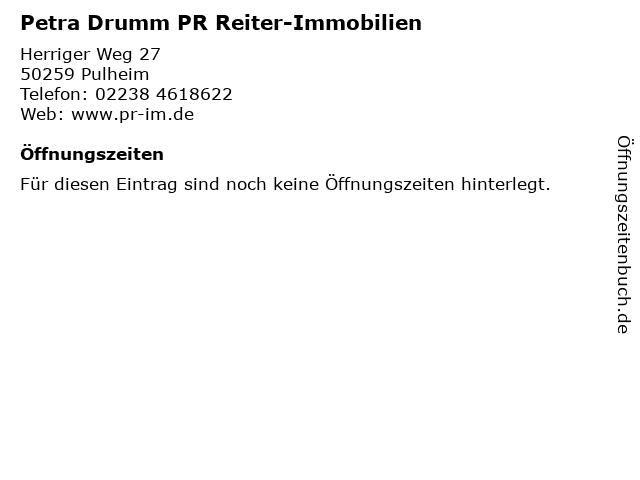 Petra Drumm PR Reiter-Immobilien in Pulheim: Adresse und Öffnungszeiten