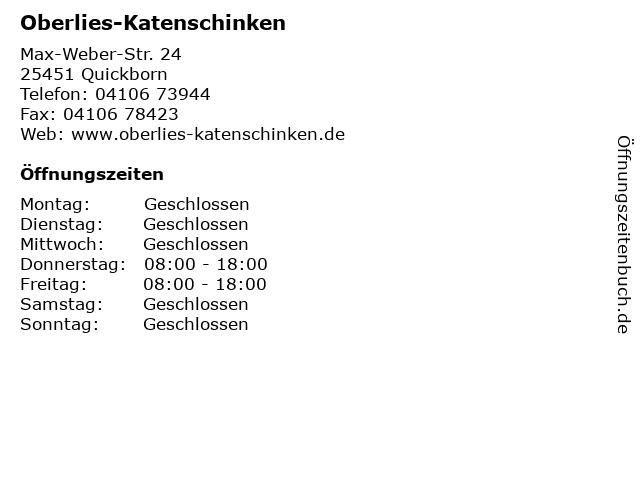 Oberlies-Katenschinken in Quickborn: Adresse und Öffnungszeiten