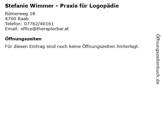 Stefanie Wimmer - Praxis für Logopädie in Raab: Adresse und Öffnungszeiten