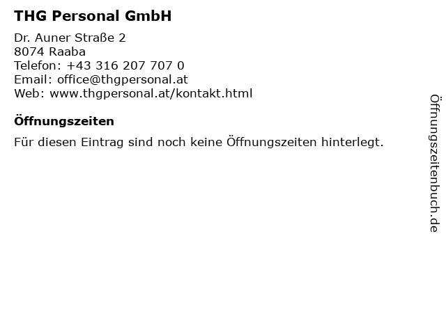 THG Personal GmbH in Raaba: Adresse und Öffnungszeiten