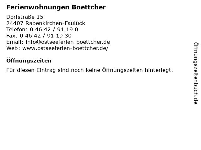 Ferienwohnungen Boettcher in Rabenkirchen-Faulück: Adresse und Öffnungszeiten