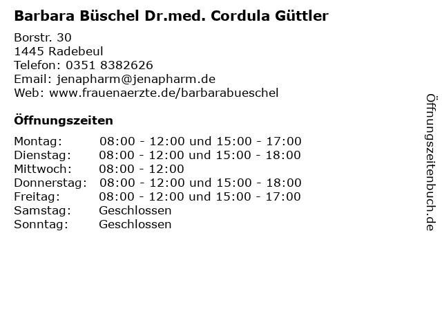 Barbara Büschel Dr.med. Cordula Güttler in Radebeul: Adresse und Öffnungszeiten