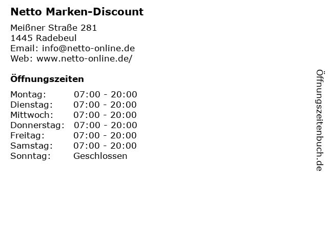 Netto Marken-Discount in Radebeul: Adresse und Öffnungszeiten