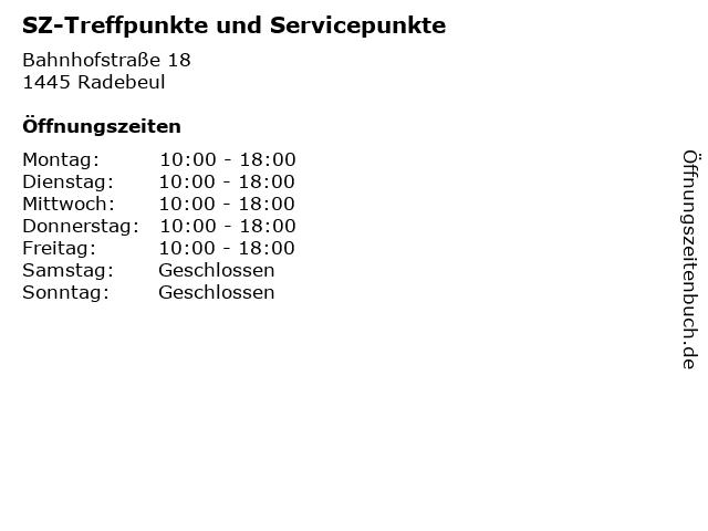 SZ-Treffpunkte und Servicepunkte in Radebeul: Adresse und Öffnungszeiten