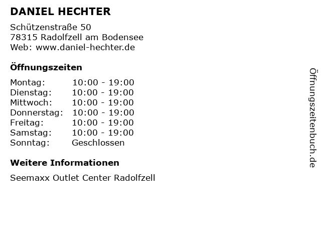 DANIEL HECHTER in Radolfzell am Bodensee: Adresse und Öffnungszeiten