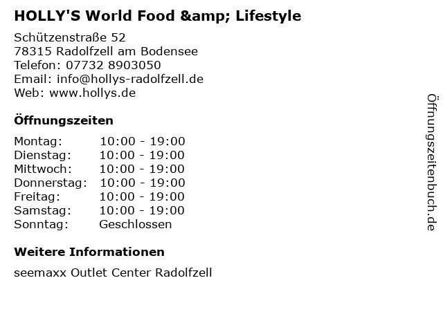 HOLLY'S World Food & Lifestyle in Radolfzell am Bodensee: Adresse und Öffnungszeiten
